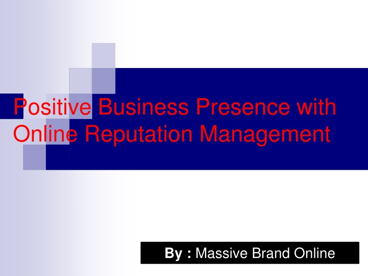 positive business presence with online reputation management n.