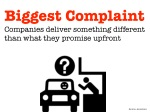 biggest complaint companies deliver something