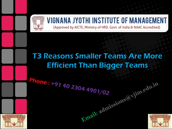 t3 reasons smaller teams are more efficient than n.