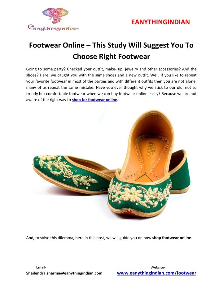 eanythingindian footwear online this study will n.