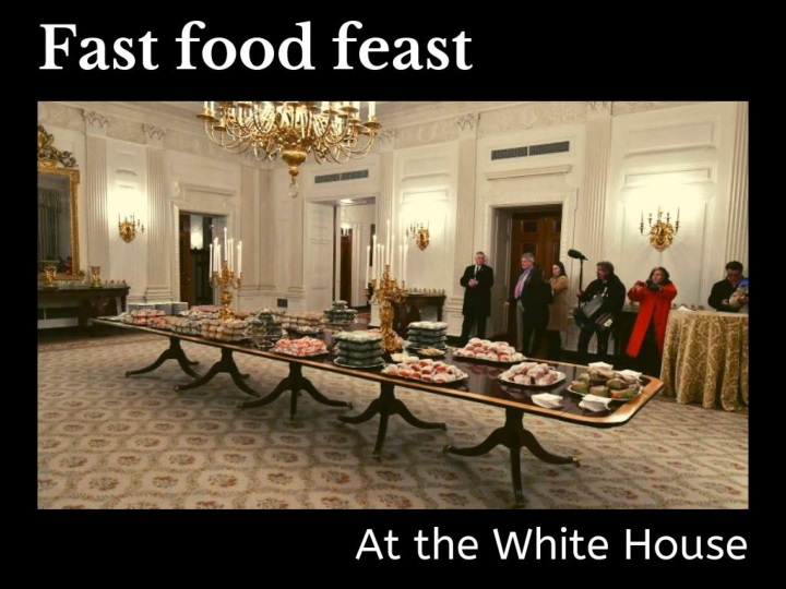 fast food feast at the white house n.