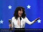 actress sandra oh accepts the award for best