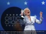 glenn close reacts as she accepts the award