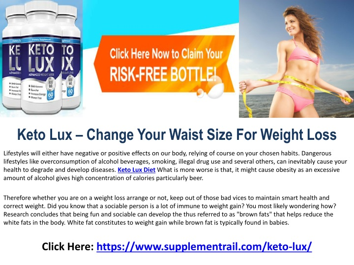 keto lux change your waist size for weight loss n.