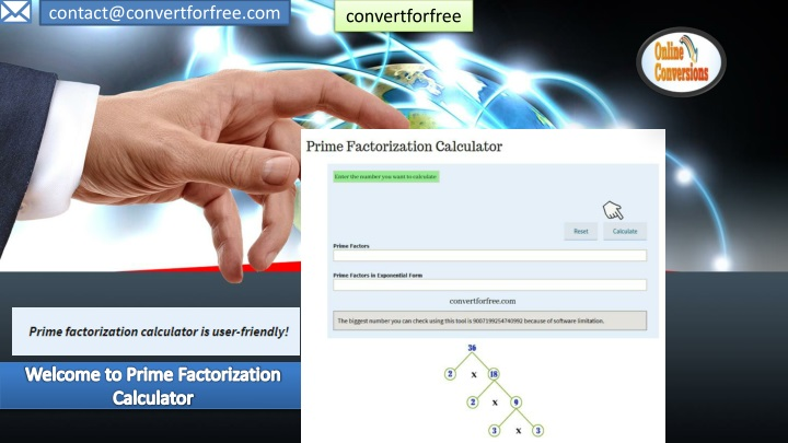 welcome to prime factorization calculator n.