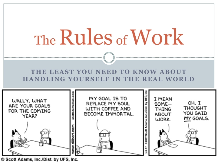 the rules of work n.