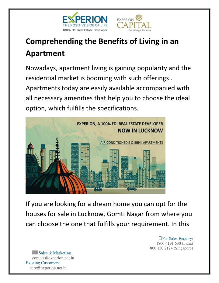 comprehending the benefits of living n.