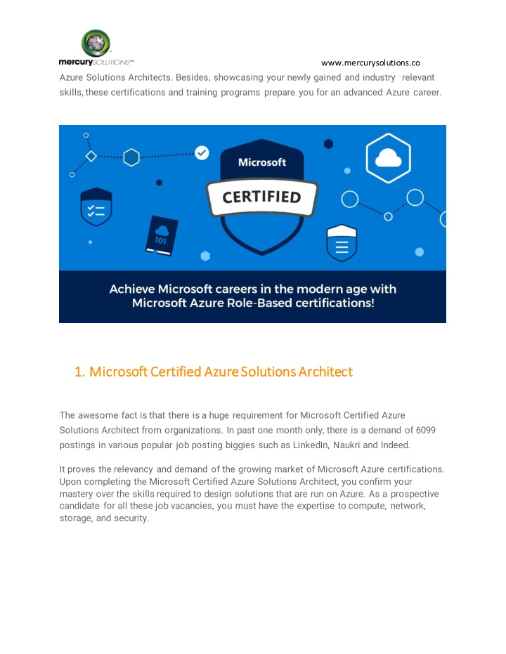 Microsoft Azure Security Certification