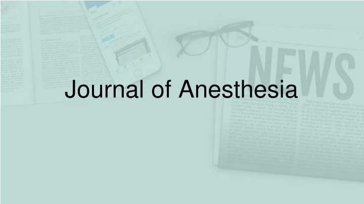 journal of anesthesia n.