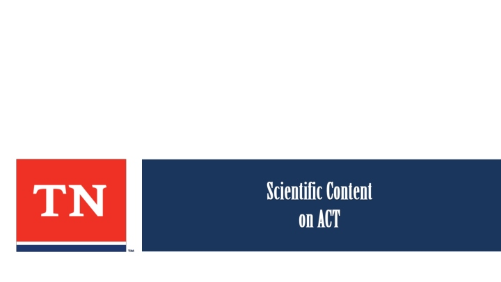 scientific content on act n.