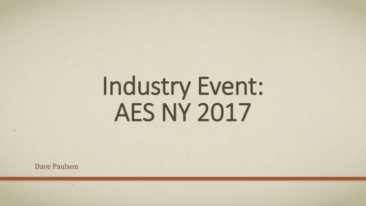 industry event aes ny 2017 n.