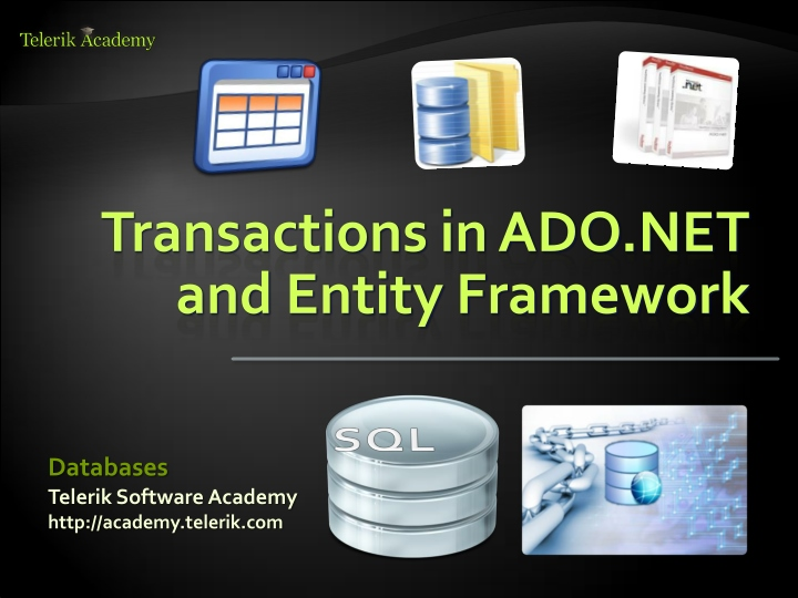 transactions in ado net and entity framework n.
