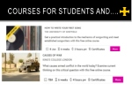 courses for students and