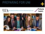 preparing for uni