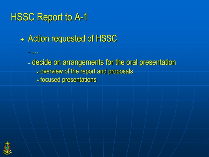 hssc report to a 1 n.