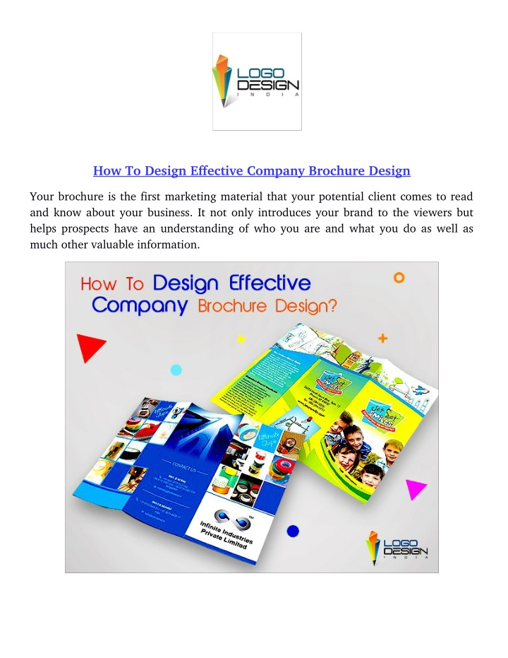 how to design effective company brochure design n.