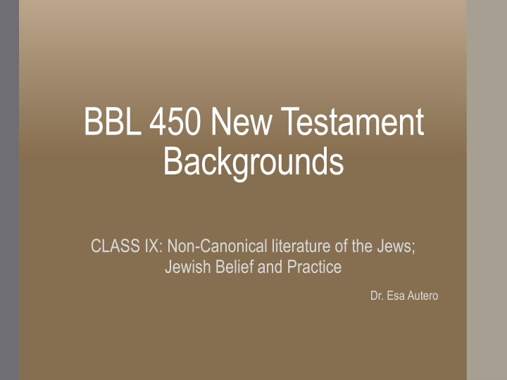 bbl 450 new testament backgrounds n.