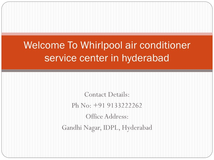 welcome to whirlpool air conditioner service center in hyderabad n.