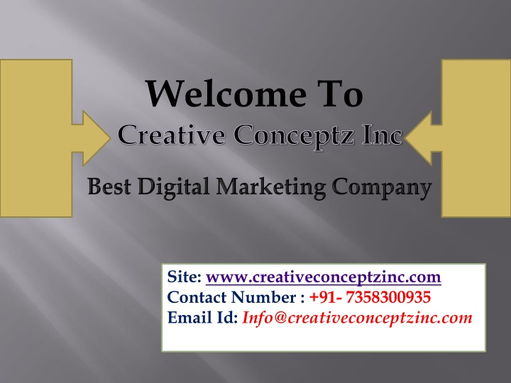PPT - Digital Marketing Services Company in Australia @CCI USA and