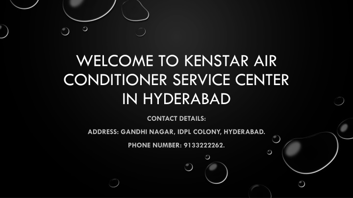 welcome to kenstar air conditioner service center in hyderabad n.