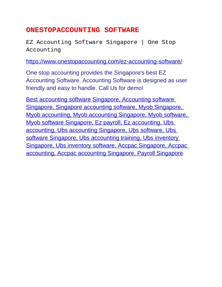 onestopaccounting software n.