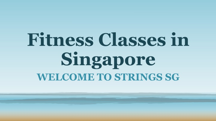 fitness classes in singapore n.