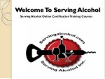 welcome to serving alcohol
