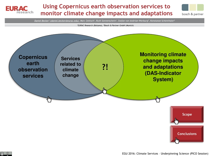 using copernicus earth observation services to monitor climate change impacts and adaptations n.