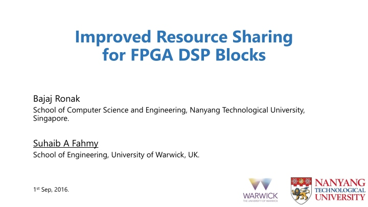 improved resource sharing for fpga dsp blocks n.