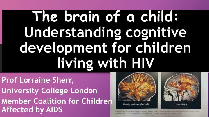 the brain of a child understanding cognitive development for children living with hiv n.