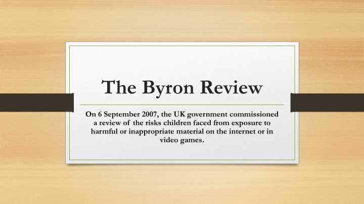 the byron review n.