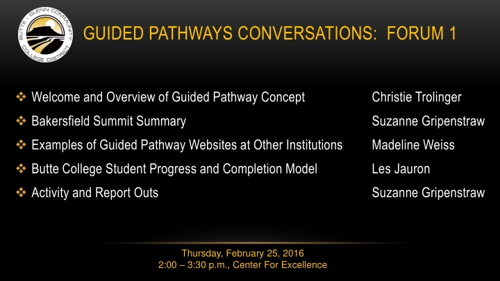 guided pathways conversations forum 1 n.