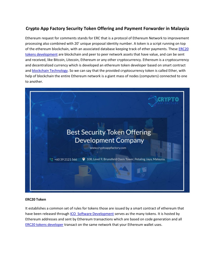 crypto app factory security token offering n.