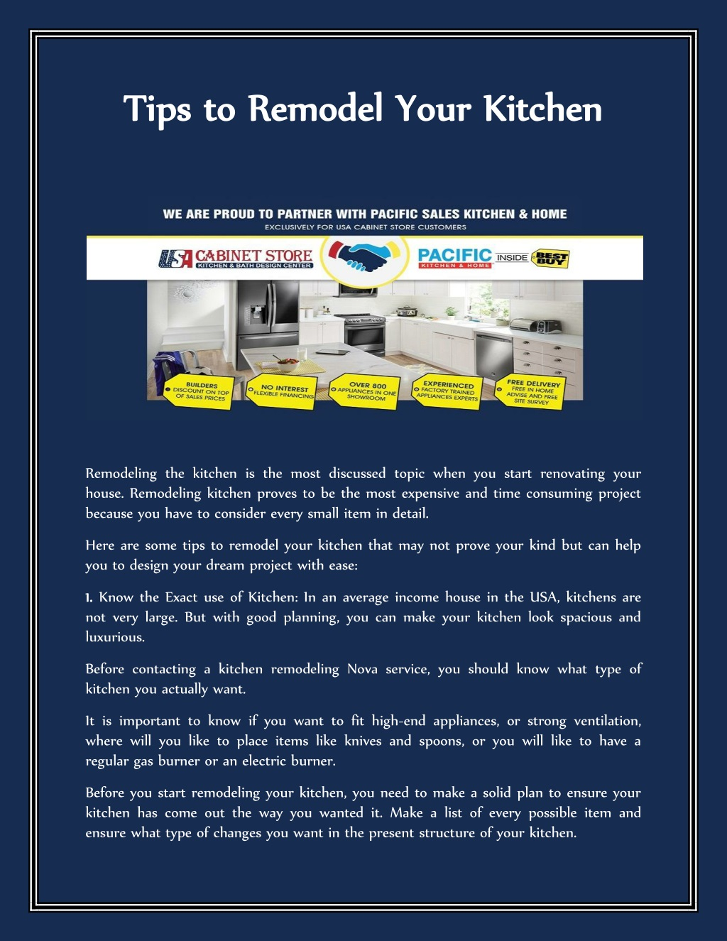 Ppt Tips To Remodel Your Kitchen Powerpoint Presentation Free