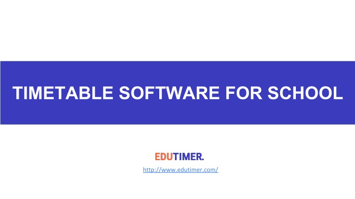 timetable software for school n.