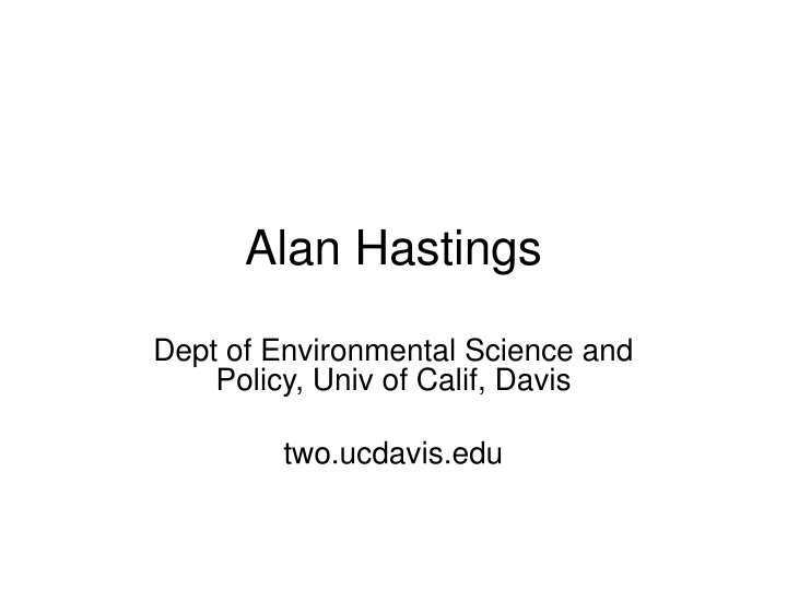 alan hastings n.
