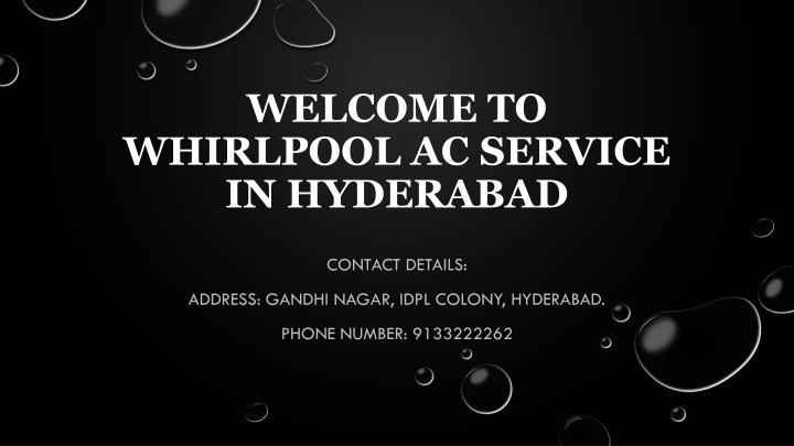 welcome to whirlpool ac service in hyderabad n.