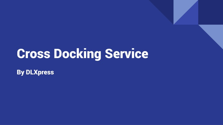 cross docking service n.