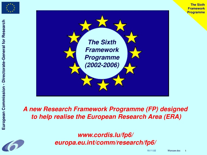 the sixth framework programme n.
