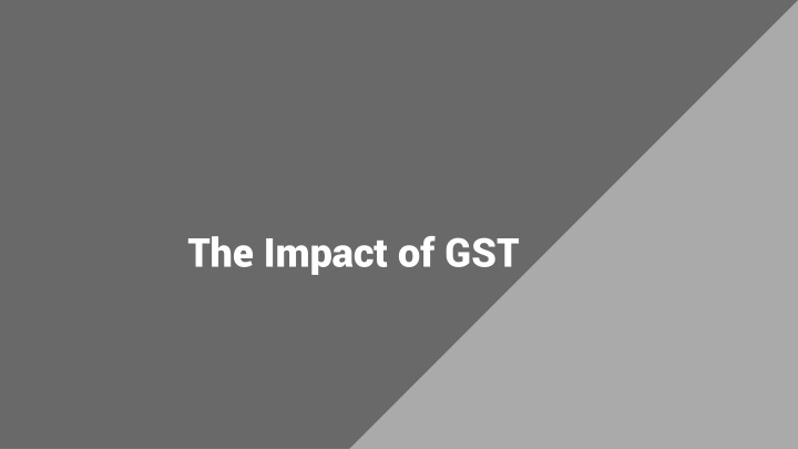 the impact of gst n.