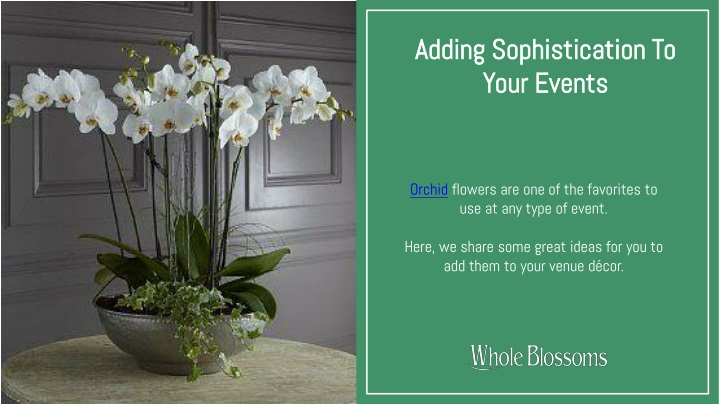 adding sophistication to your events n.