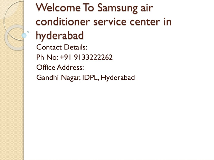 welcome to samsung air conditioner service center in hyderabad n.