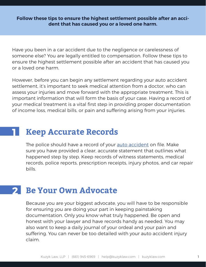 PPT - 7 Tips For Getting the Most Out of Your Auto Accident