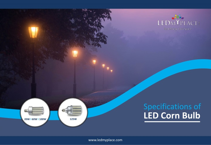 specifications of led corn bulb n.