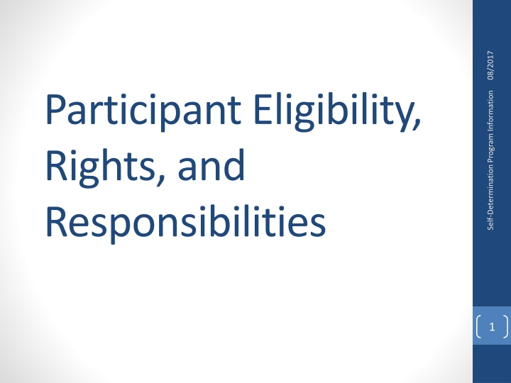 participant eligibility rights and responsibilities n.