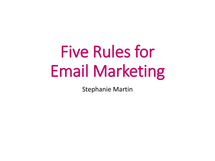 five rules for email m arketing n.