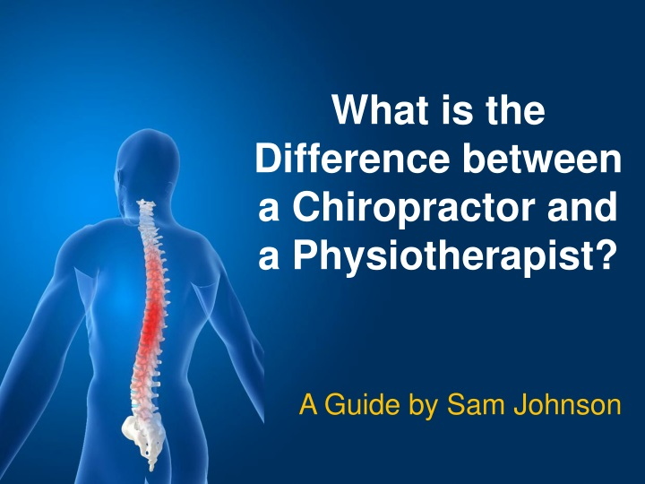 what is the difference between a chiropractor n.