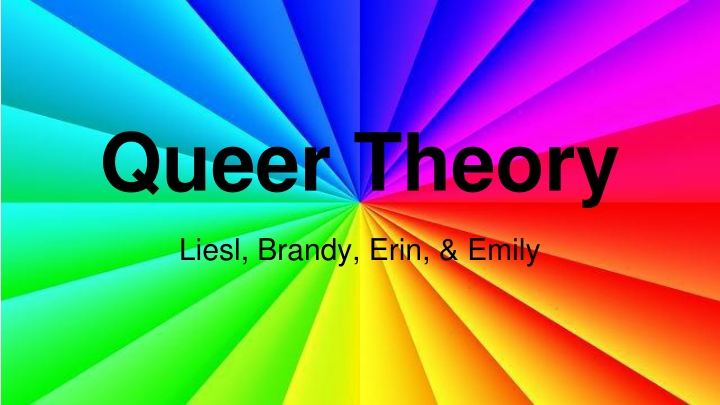 queer theory n.
