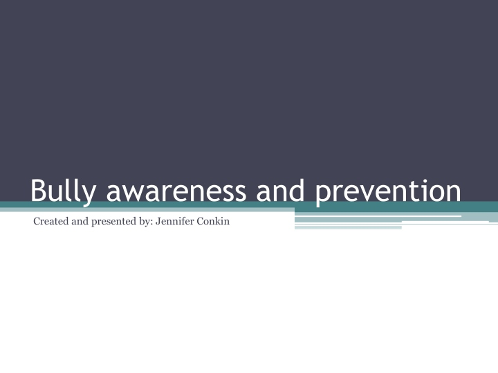 bully awareness and prevention n.