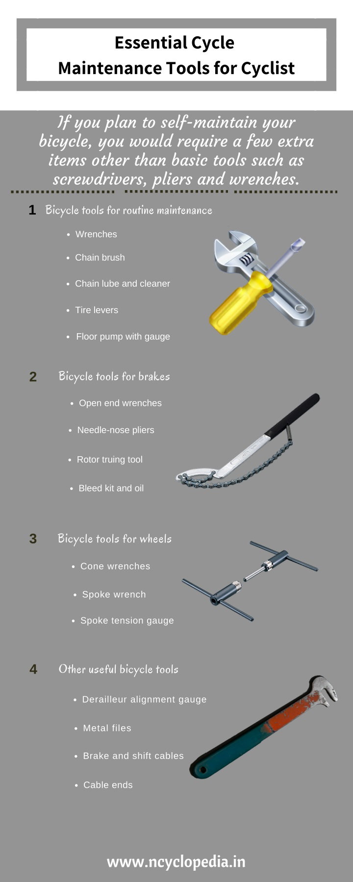 essential cycle maintenance tools for cyclist n.